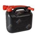 Üzemanyagkanna, műanyag, 5l, fekete (KC)